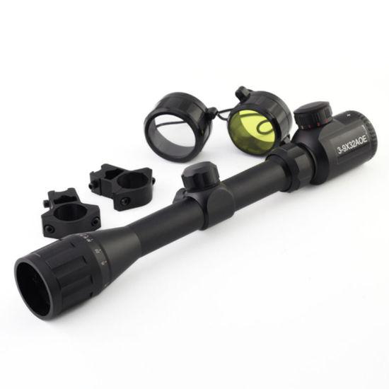 Outdoor 3-9X32aoe R&G Illuminated Rangerfinder Rifle Scope
