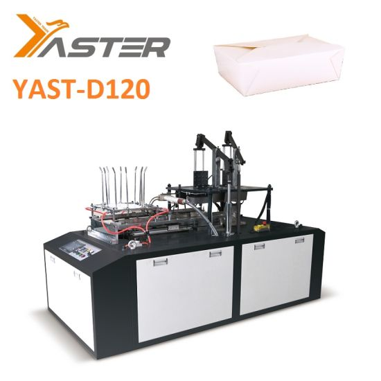 High Speed Fully Automatic Carton Erecting Machine Lunch Paper Box, Kfc, Fast Food Box Making Forming Machine Yast-D120