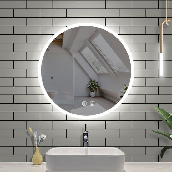 Washroom Cosmetic Wall Decor Lighted Mirror Round LED Mirror