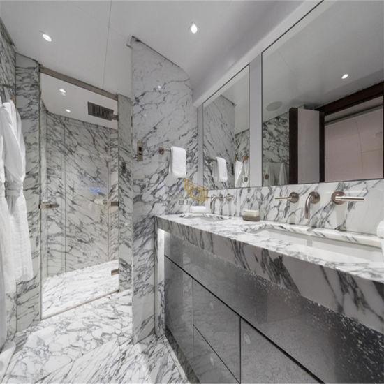 Grey/White Natural Marble Stone Slabs For Bathroom Tiles  Backsplash/Flooring/Wall/Countertops - China Grey Marble, White Marble Stone  Made-in-China.com