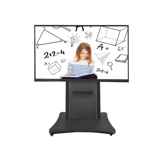 65 75 86 Inch All in One Dual OS HDMI Input Screen Projector Anti-Glare Screen Multi-Touch Portable LCD Touch Screen Interactive Electronic Whiteboard