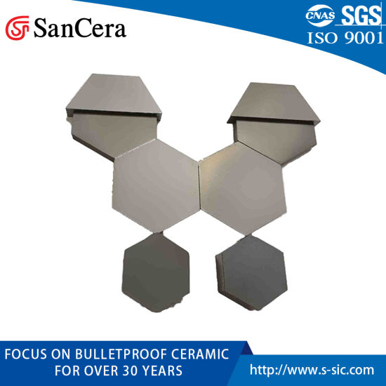 Sintered Silicon Carbide Ceramic Plate for Bulletproof Board 50*50*6mm