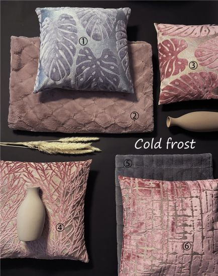 Cut Velvet Polyester Sofa Pillows Color Pillows Home Decorative Cushions