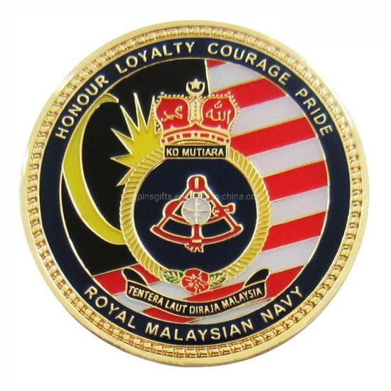 Customized Wholesale Metal 3D Coin Ust Soft Enamel Challenge Coin Custom Metal City New York Police Challenge Coin for Sale (381)