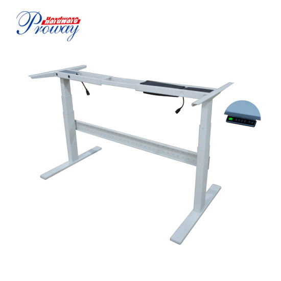 Dual Motor Height Adjustable Sit Stand Desk with Smart Keypad