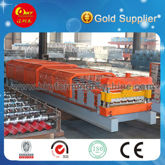 Hky-840 Steel Roof Tile and Wall Panel Forming Machine pictures & photos