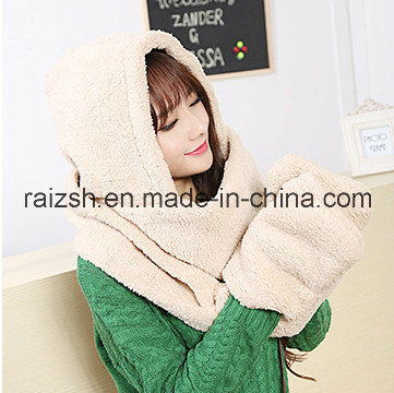 Warm Cashmere Scarves Hats Gloves Conjoined