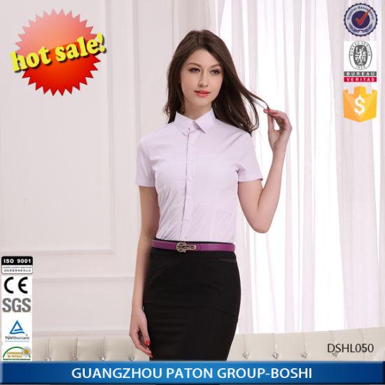 China Women′s Short Sleeve Slim Fit Shirts Design - China Women′s ... 54f8d299e