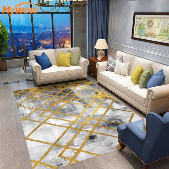 Living Room Anti Slip Rugs Polyester Modern Carpets and Rugs
