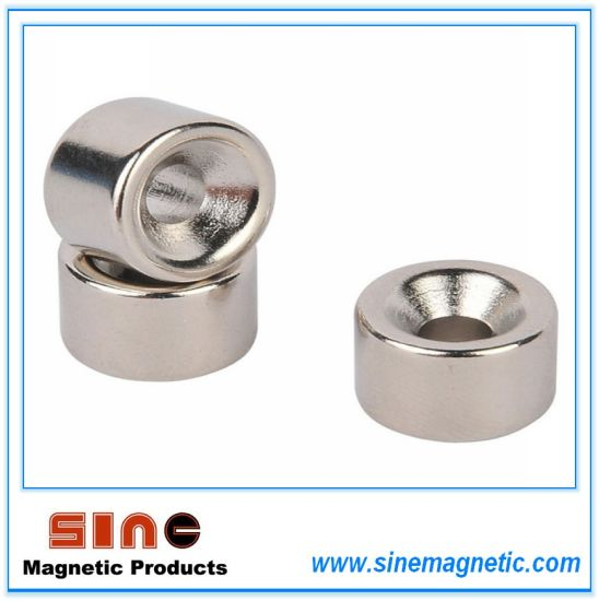 Strong Permanent NdFeB Magnet Countersunk Hole Ring