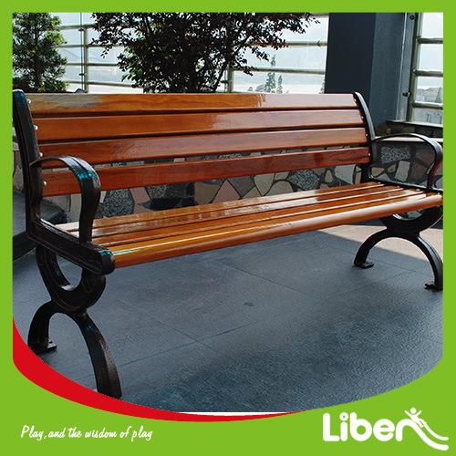 Castle Iron Outdoor Wooden Public Leisure Furniture Park Bench with Backrest (LE. XX. 047)