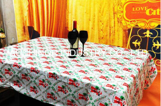 High Quality Waterproof Plastic Solid Color Disposable Tablecloth pictures & photos