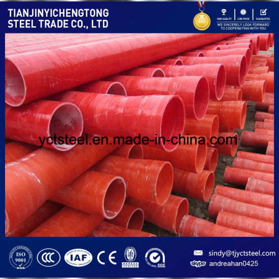 Red Fiberglass Winding Pipe with High Strength and Corrosion Resistant pictures & photos