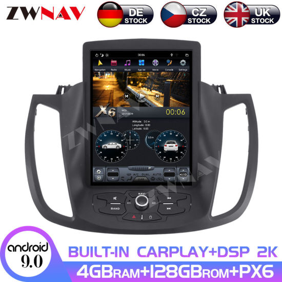 4+128GB Tesla Screen for Ford Kuga 2013 2014 2015 2016 2017 2018 2019 Android 9 Car Multimedia Player GPS Navi Radio Stereo Unit