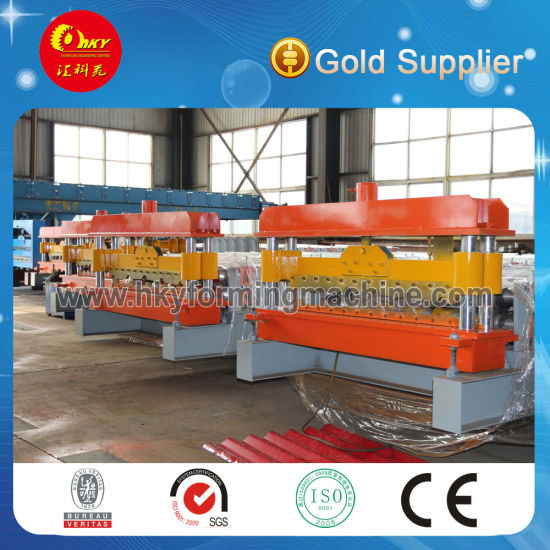 High Quality Steel Tile Metal Roof Roll Forming Machine pictures & photos
