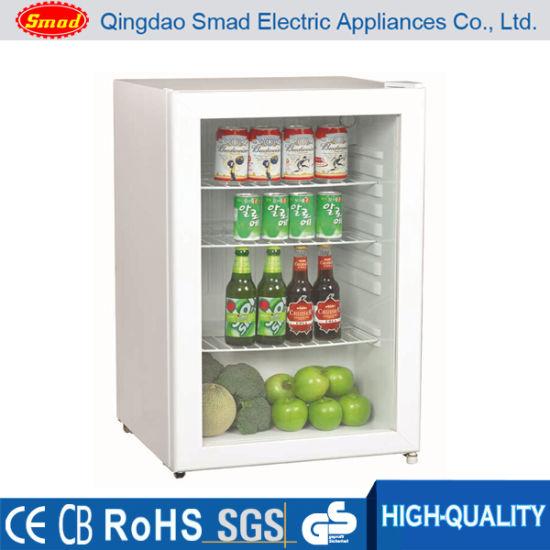 China Mini Electric Beverage Cooler Small Desktop Glass Door