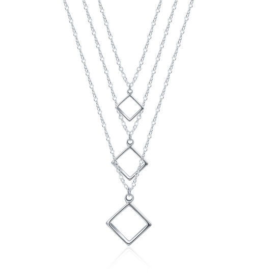 Wholesale Top Design Women Fashion Necklaces Jewelry Accessories Retro  Square Pendant Necklace