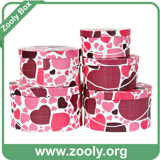 Round Paper Gift Box Storage Round Box Hat Box Set pictures & photos
