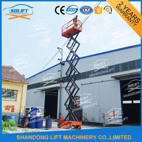 Self Propelled Safety Scissor Lift Ladder Platform with Ce