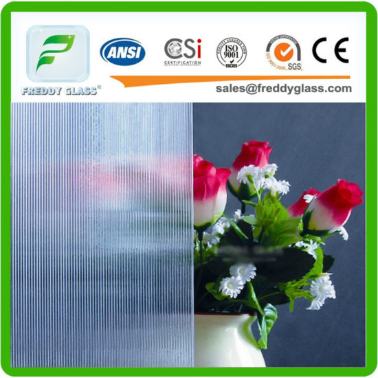China 25 12mm Clear Rain S Patterned Glass For Shower Door
