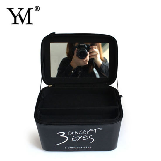 Top Quality Brand New Black OEM PU Cosmetic Box pictures & photos