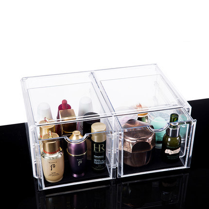 Transparent Desktop Drawer Type Acrylic Cosmetic Storage Box pictures & photos