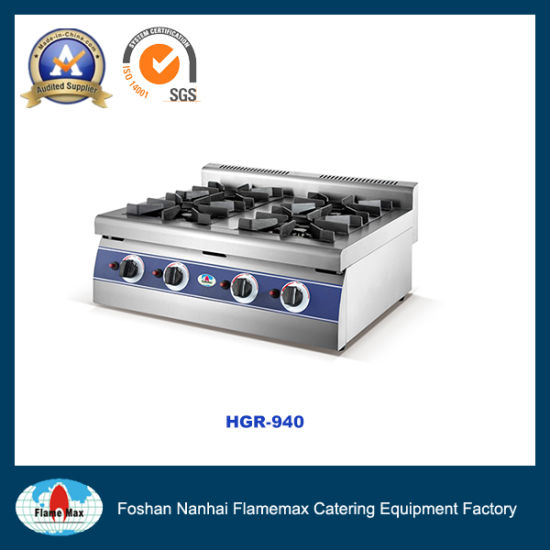 Commercial Stainless Steel 4 Burner Gas Stove (HGR 940)