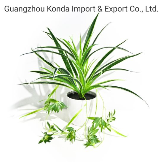 High Quality plastic Small Grass Potted Mini Artifiical Bonsai Plant for Indoor Decoration