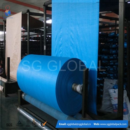 Cheap Colourful PP Woven Tubular Sacks Fabric pictures & photos