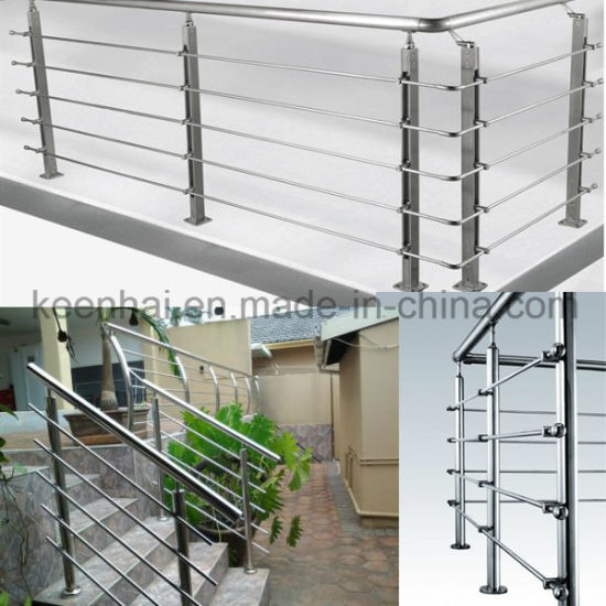 Modern Design Prefab Metal Stainless Steel Stair Railing