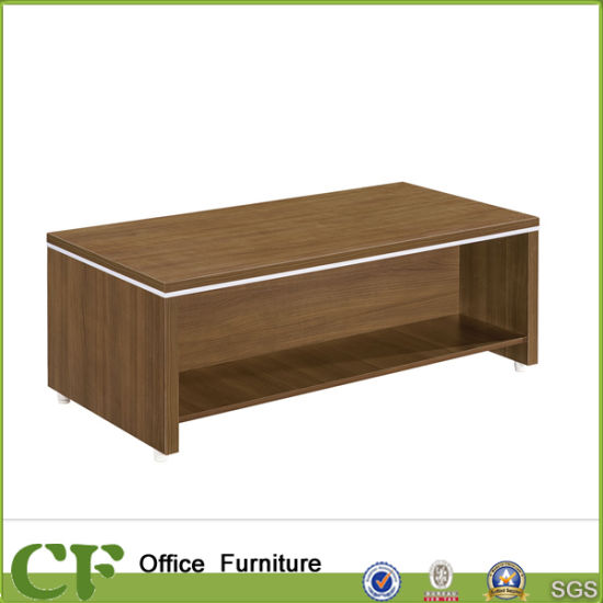 Modern Wooden Office Discussion Tea Table End