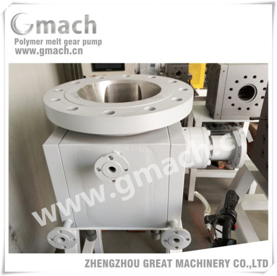 Large Flow Rate Discharge Melt Gear Pump for Polymer Reactor pictures & photos
