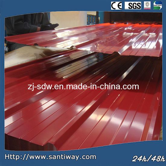 China Factory 5 Ribs Prepainted Iron Roof Steel Sheet for Construction