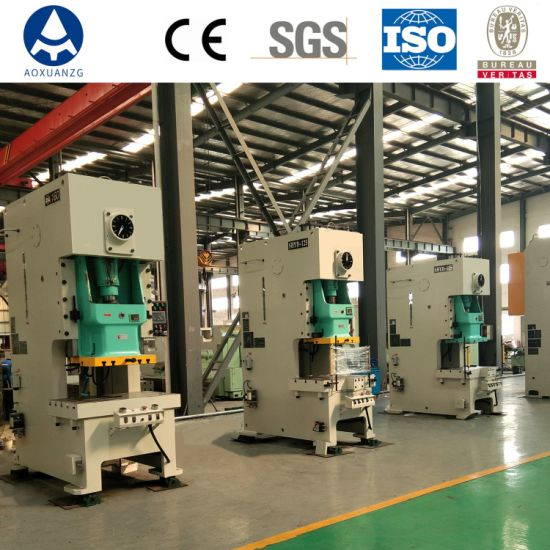 Stock 63t Pneumatic Mechanical Stamping Power Press Machine for Hole Punching