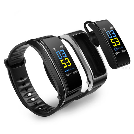Quality Bt 4.1 Heart Rate Sleep Monitoring Smart Call Earphone Bracelet with Audio Player Y3 Plus