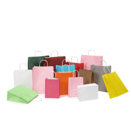 Wholesale Luxury 21 Colors Kraft Paper Gift Paper packaging Bag