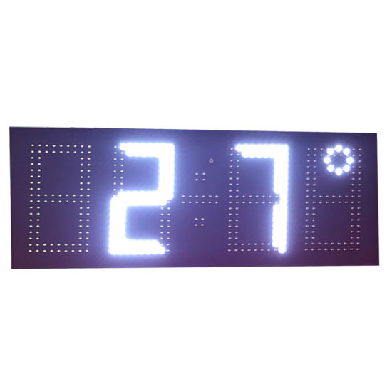 7 Inch 4 Digital Large Outdoor LED Clock with Temperature Display