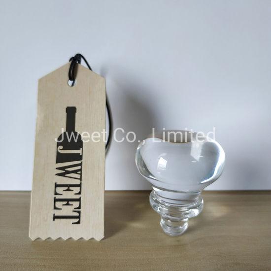 Custom Crystal Ball Shape Glass Stopper for Tequila Glass Bottle