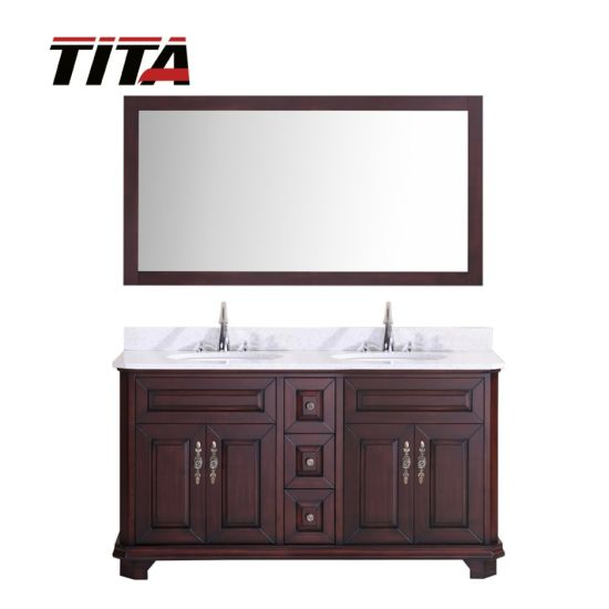 Solid Wood Antique Style Bathroom Vanity T9314-60/72A