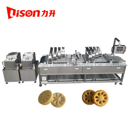 Big Capacity Cream and Fruit Jam Filling Biscuit Sandwich Machine with Conveyor