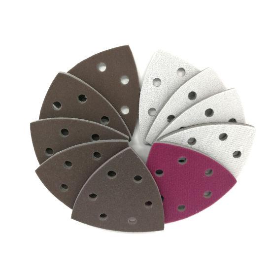 90X90X90mm 300-2000 Grit Hook and Loop 6-Hole Ceramic Sanding Sponge Sandpaper for Polishing and Grinding