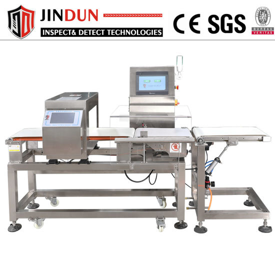 Food Meat Sausage Frozen Breef Chicken Food Metal Detector Checkweigher Integrated Combination