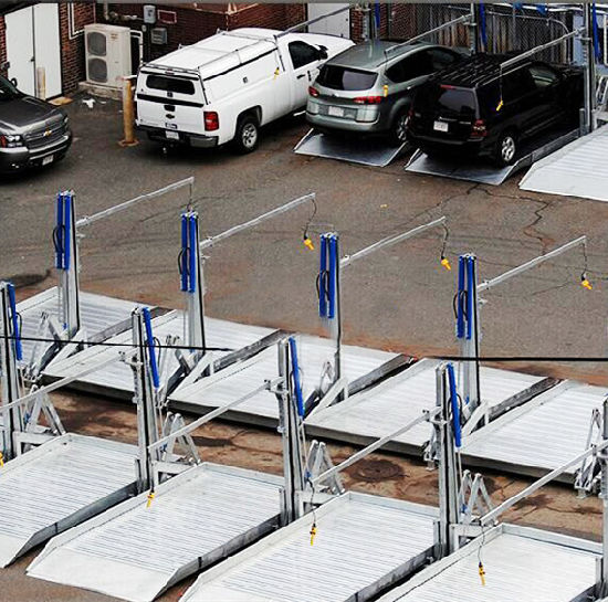 CE Approved Mechanical 2 Posts Parking Lift Fro 2 Cars