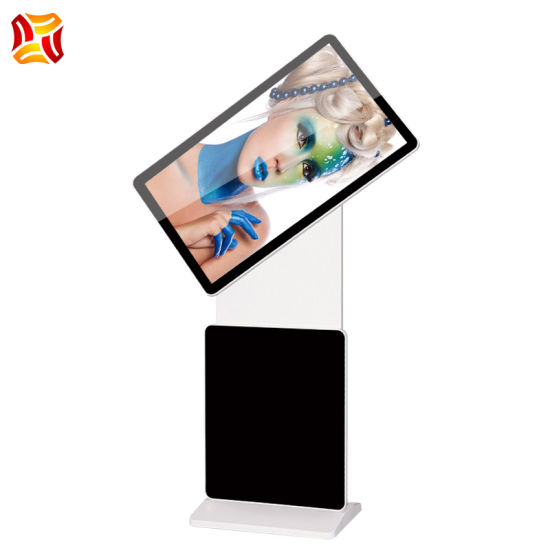 """59"""" Inch Vertical Rotary LCD Advertising Machine HD Floor Standing LCD Touch Display"""
