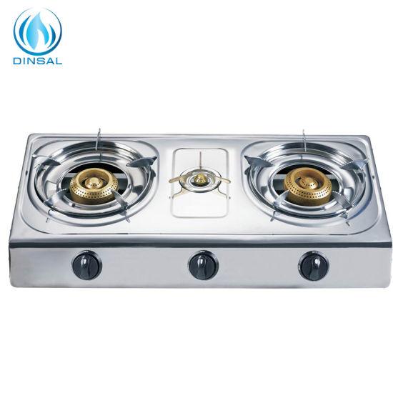 Ss Sheet Iron Golden Burner Gas Cooker (DS-GS311)