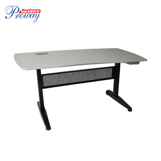 Gas Spring Height Adjustable Standing Desk with Folding Legs