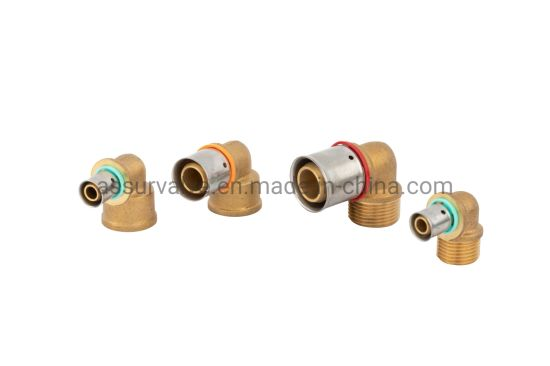 Ce Approved Copper Brass Compression Tube Plumbing Pipe Fitting