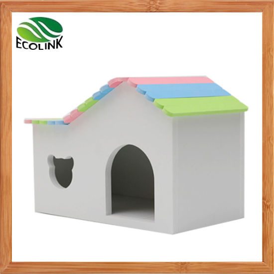 Multicolor Hedgehogs Cage Cuthamster Cage Guinea Pig Cage Rabbit Hole Wooden Toy House Observation Deck Toys