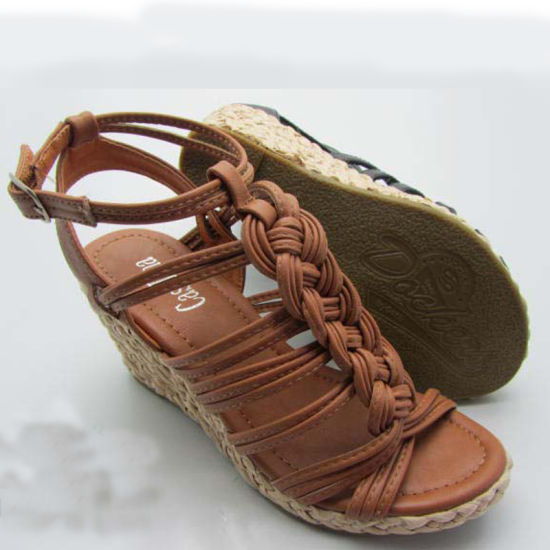 Women Gender and PVC Outsole Material Women Wedge Sandals pictures & photos