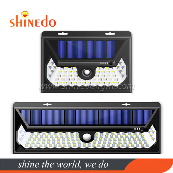 60/120 LED Solar Motion Sensor Wall Security Garden Light with Button Switch pictures & photos